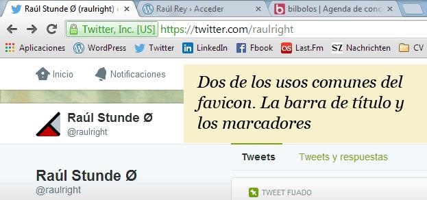 Captura de pantalla Favicons
